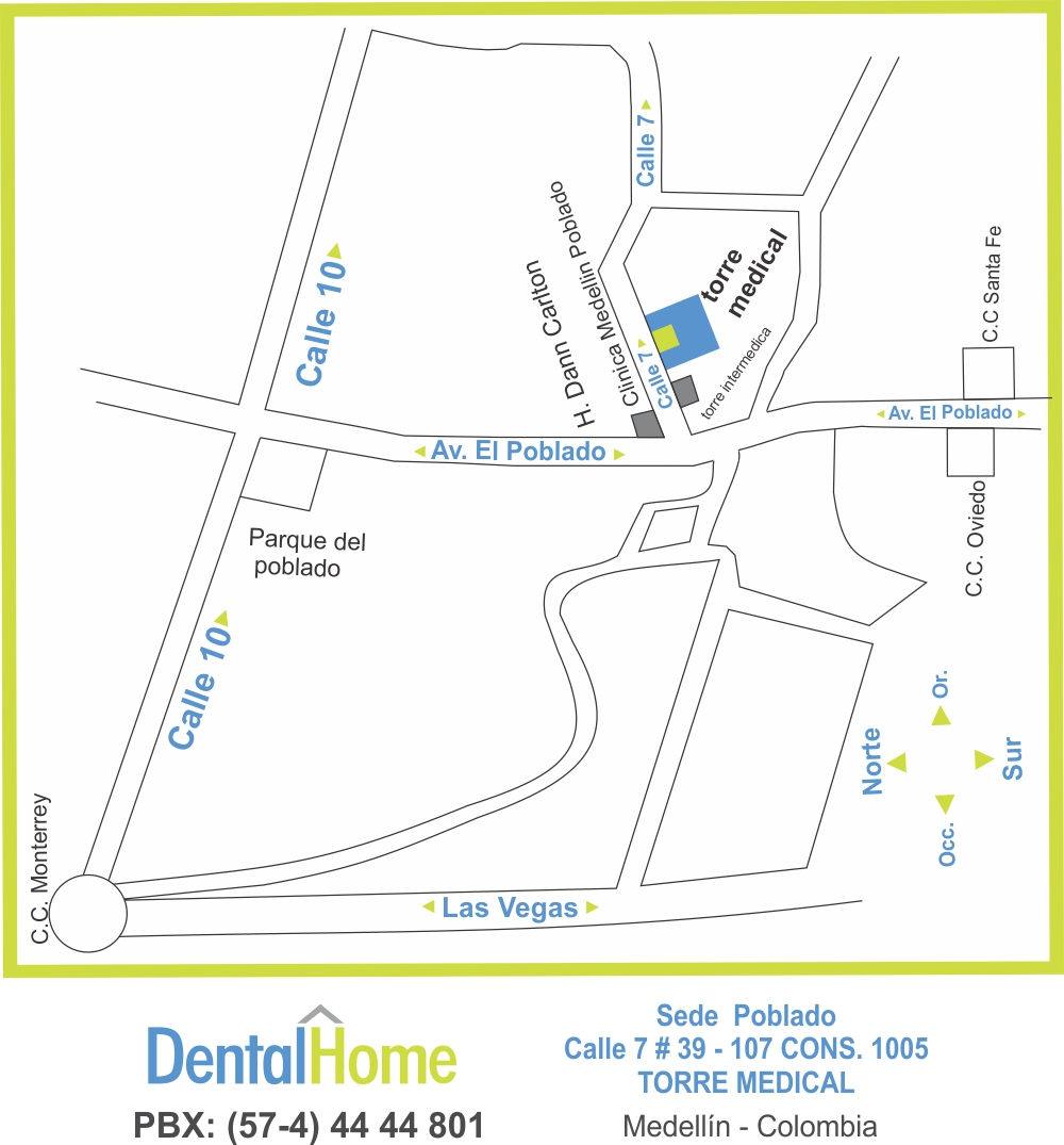 mapa dental home poblado medical 1000